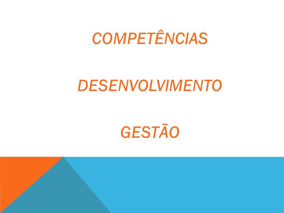 COMPETÊNCIAS DESENVOLVIMENTO GESTÃO