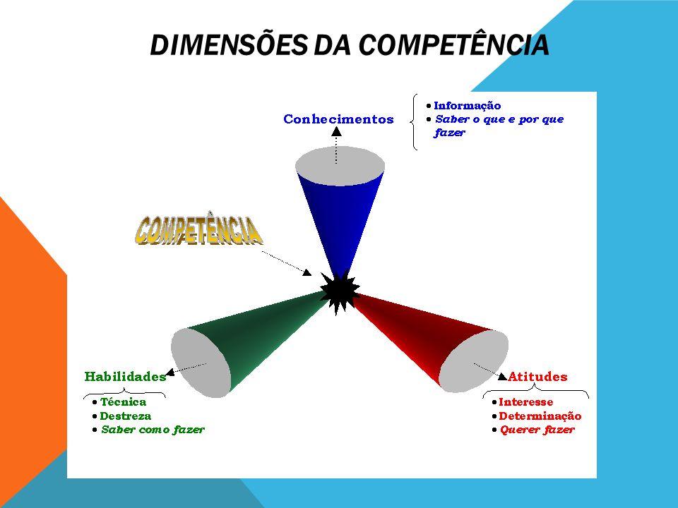 DIMENSÕES DA COMPETÊNCIA
