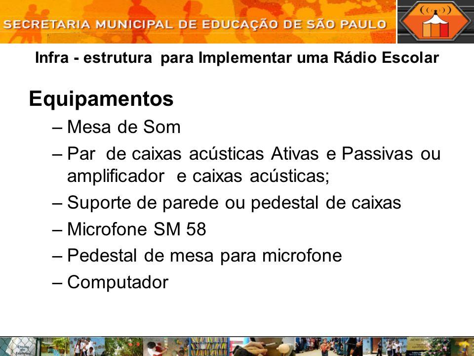 Infra - estrutura para Implementar uma Rádio Escolar