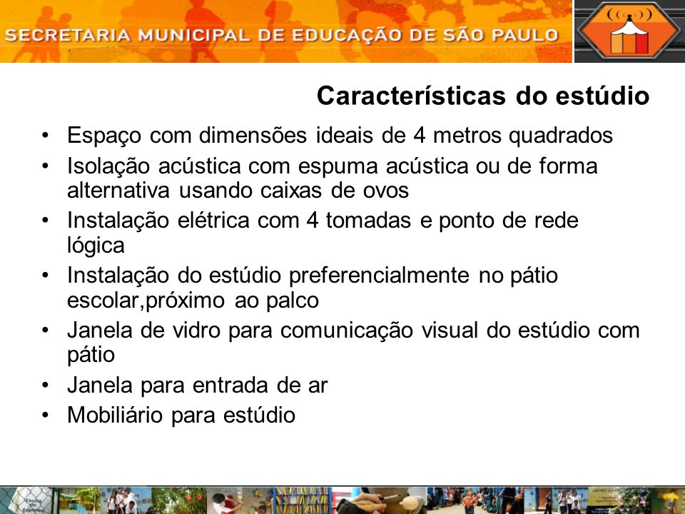Características do estúdio