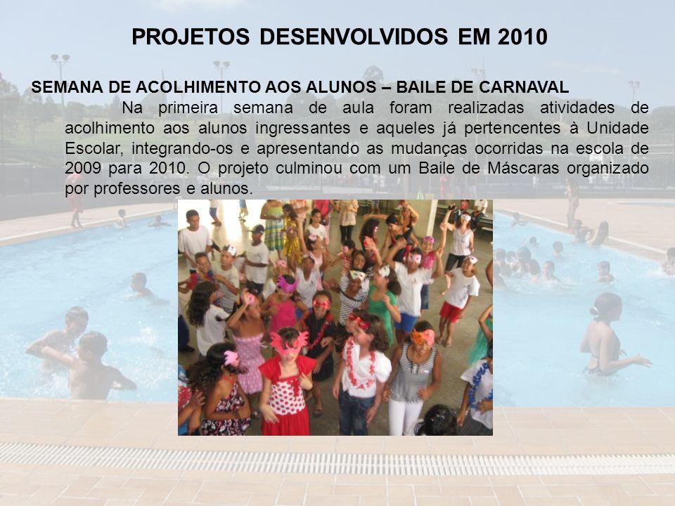 PROJETOS DESENVOLVIDOS EM 2010