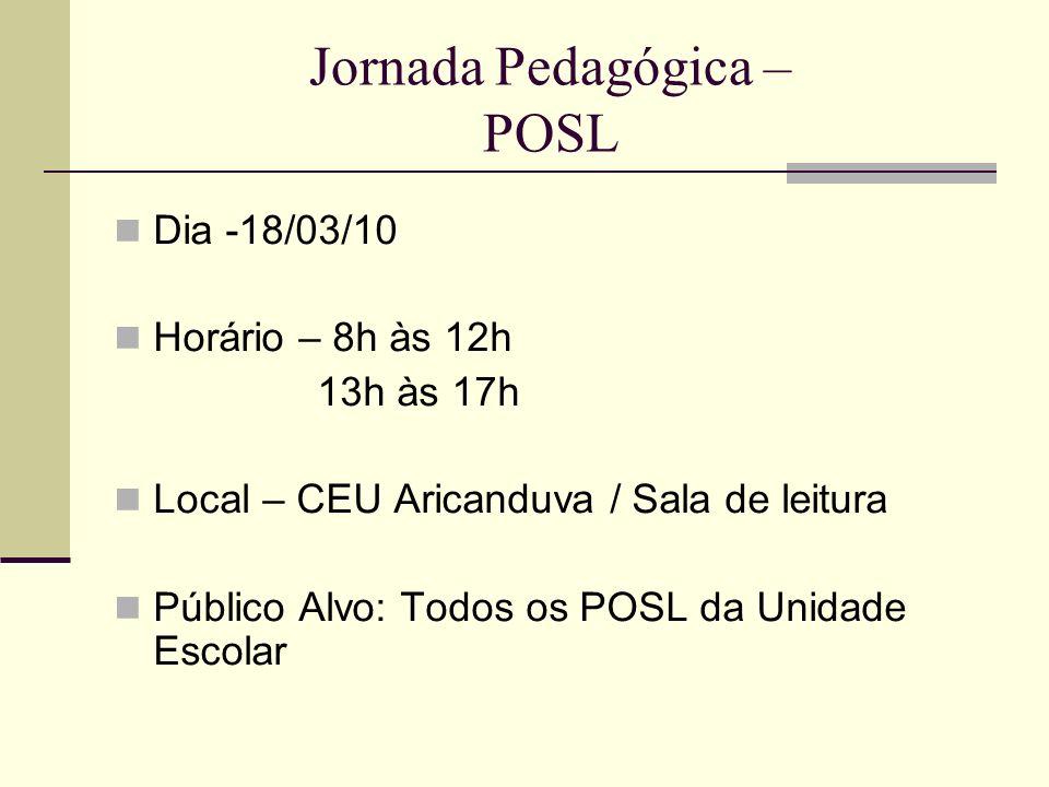 Jornada Pedagógica – POSL
