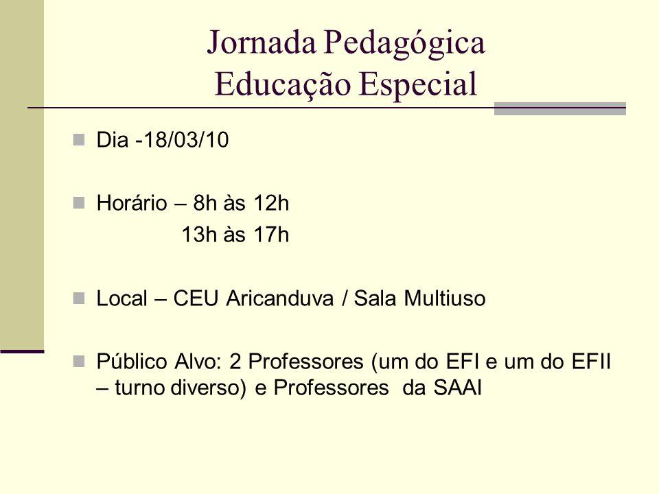 Jornada Pedagógica Educação Especial