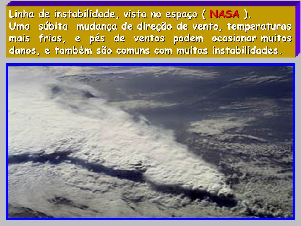 Linha de instabilidade, vista no espaço ( NASA ).