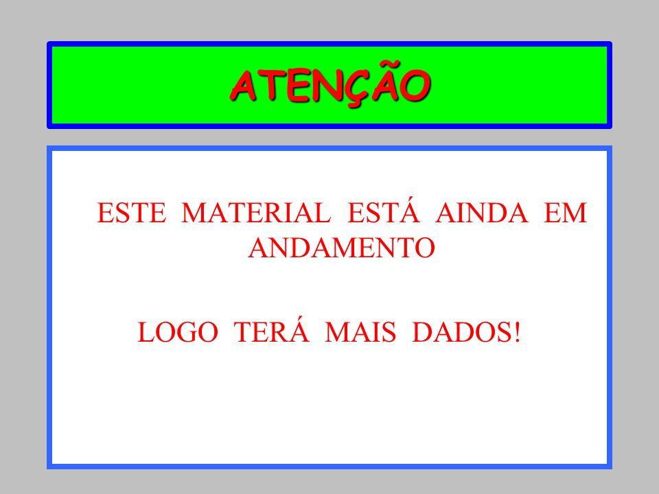 ESTE MATERIAL ESTÁ AINDA EM ANDAMENTO