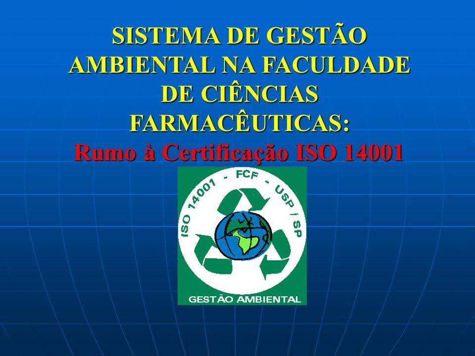 SISTEMA DE GESTÃO AMBIENTAL NA FACULDADE DE CIÊNCIAS FARMACÊUTICAS: