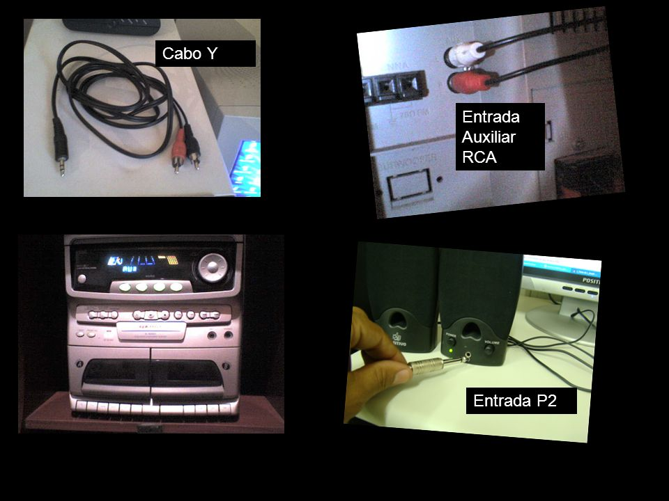 Cabo Y Entrada Auxiliar RCA Entrada P2