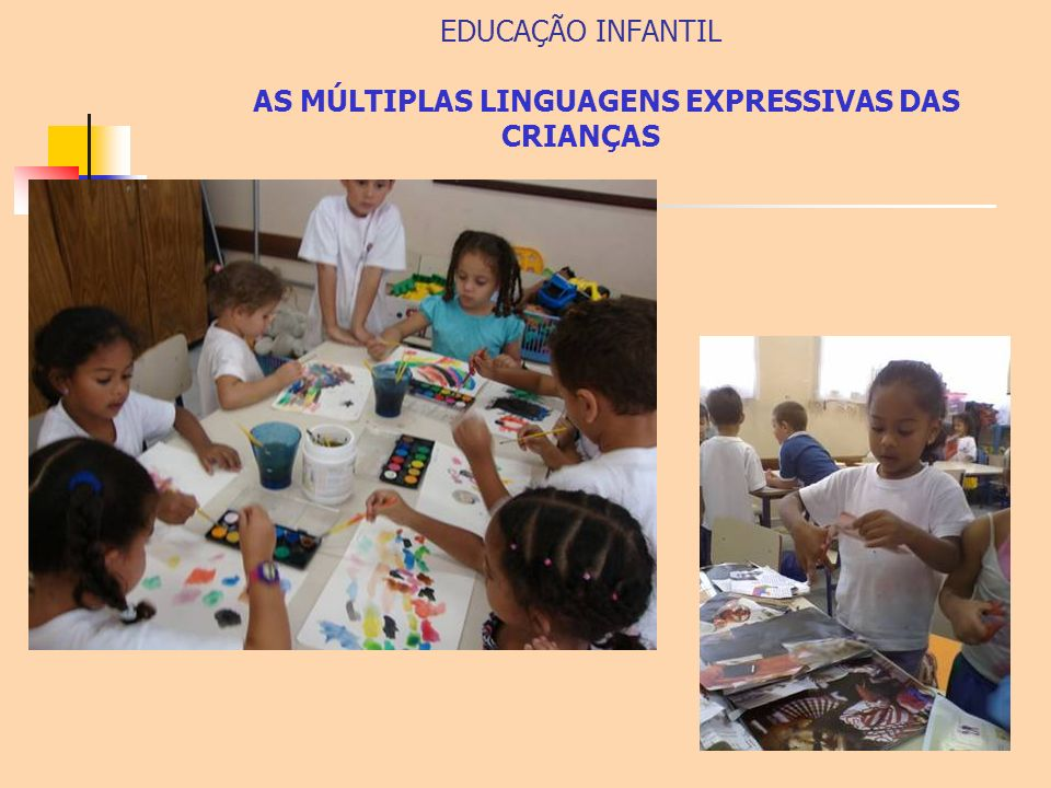 EDUCAÇÃO INFANTIL AS MÚLTIPLAS LINGUAGENS EXPRESSIVAS DAS CRIANÇAS