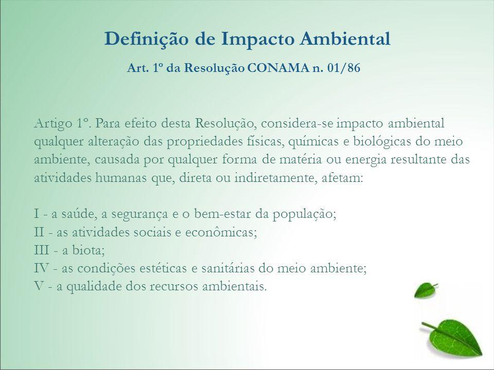 Definição de Impacto Ambiental