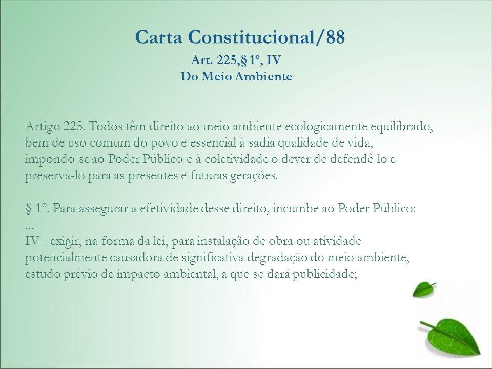 Carta Constitucional/88