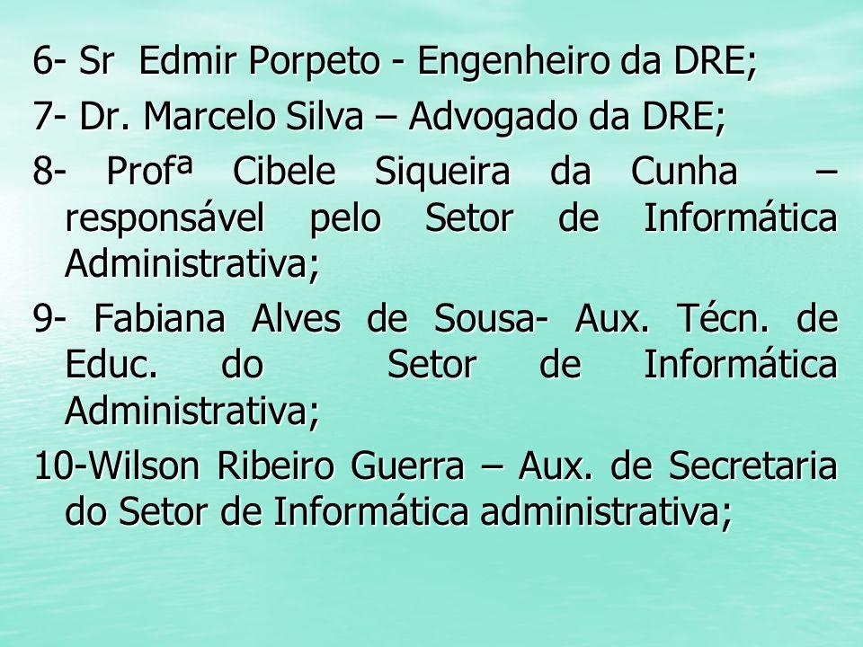 6- Sr Edmir Porpeto - Engenheiro da DRE;