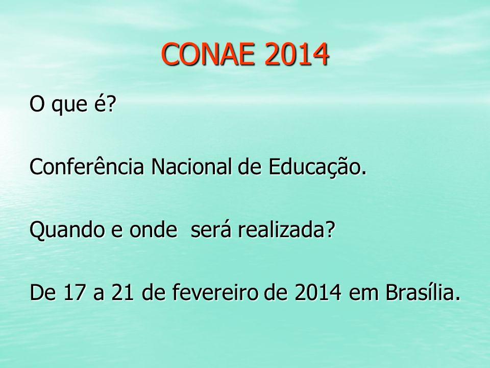 CONAE 2014 O que é Conferência Nacional de Educação.