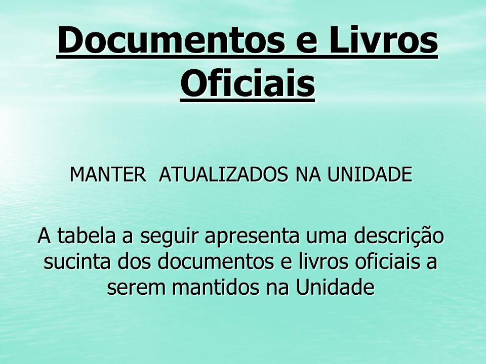 Documentos e Livros Oficiais
