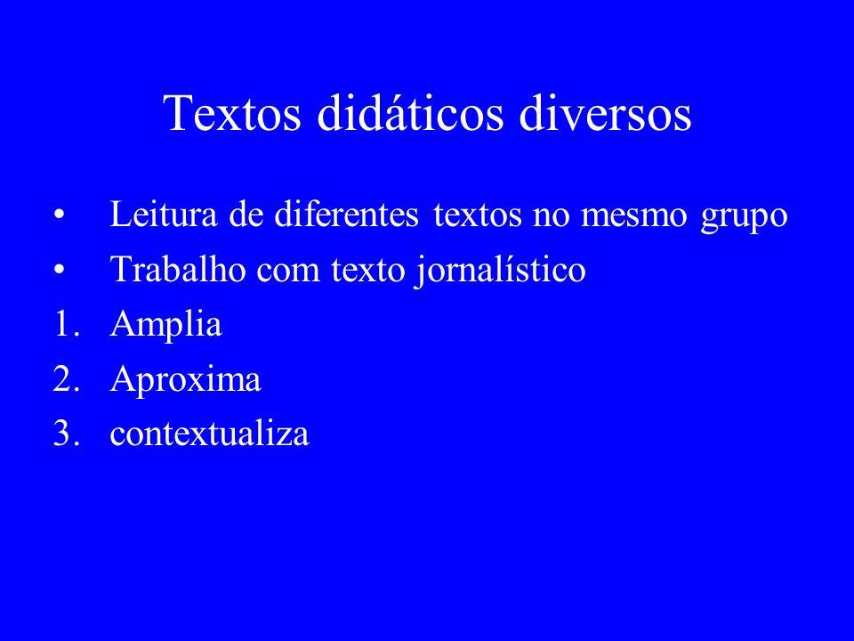 Textos didáticos diversos
