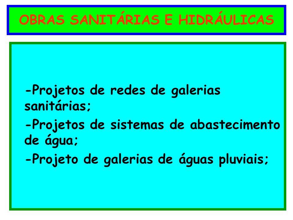 OBRAS SANITÁRIAS E HIDRÁULICAS