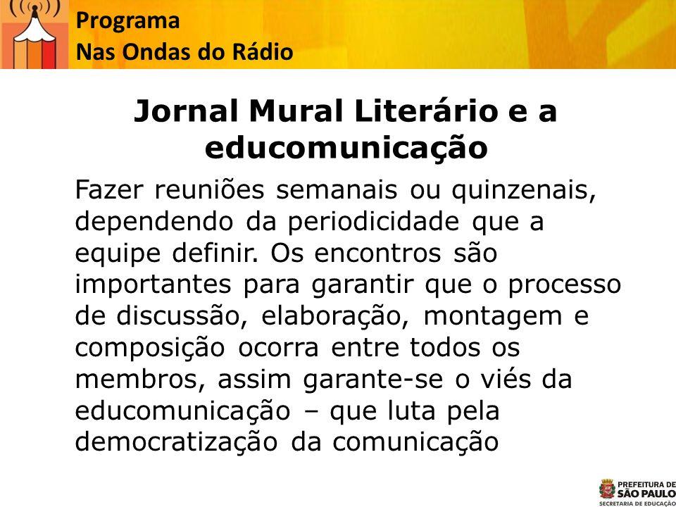 Jornal Mural Literário e a educomunicação