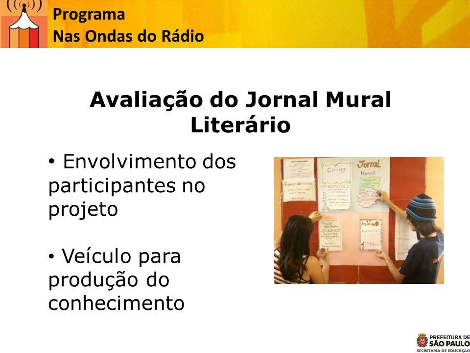 Avaliação do Jornal Mural Literário