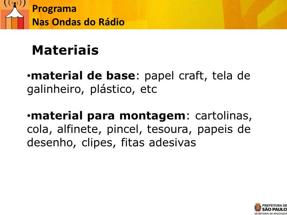 Materiais Programa Nas Ondas do Rádio