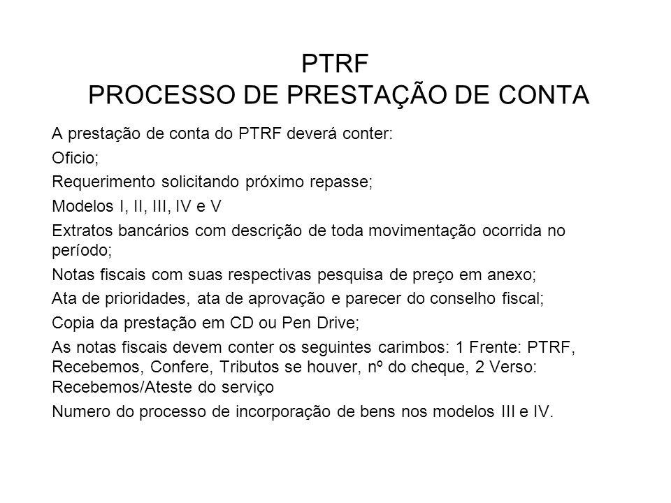 PTRF PROCESSO DE PRESTAÇÃO DE CONTA