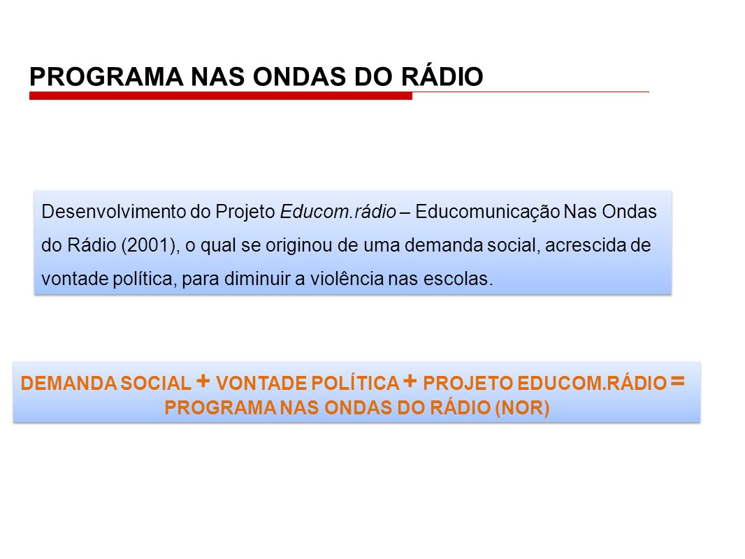 PROGRAMA NAS ONDAS DO RÁDIO (NOR)