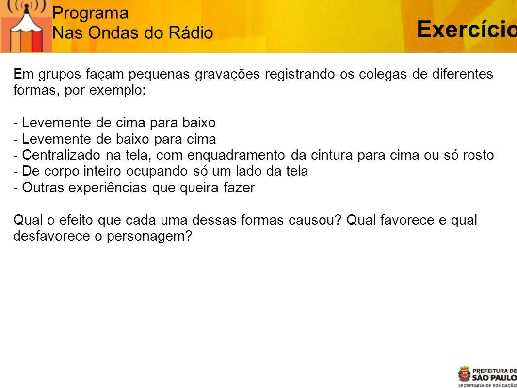 Exercício Programa Nas Ondas do Rádio