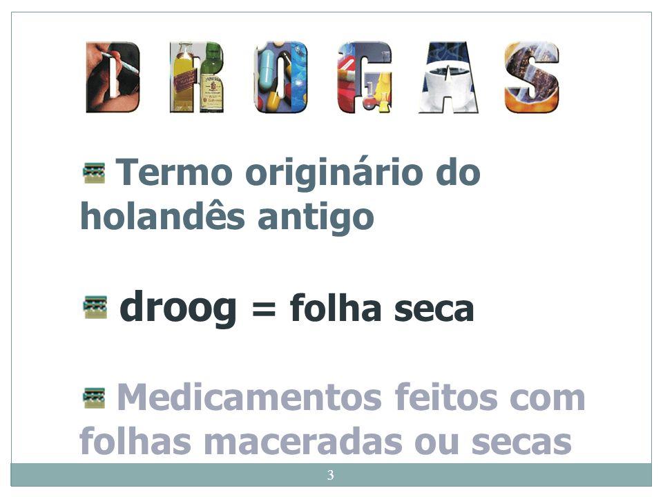 droog = folha seca Termo originário do holandês antigo