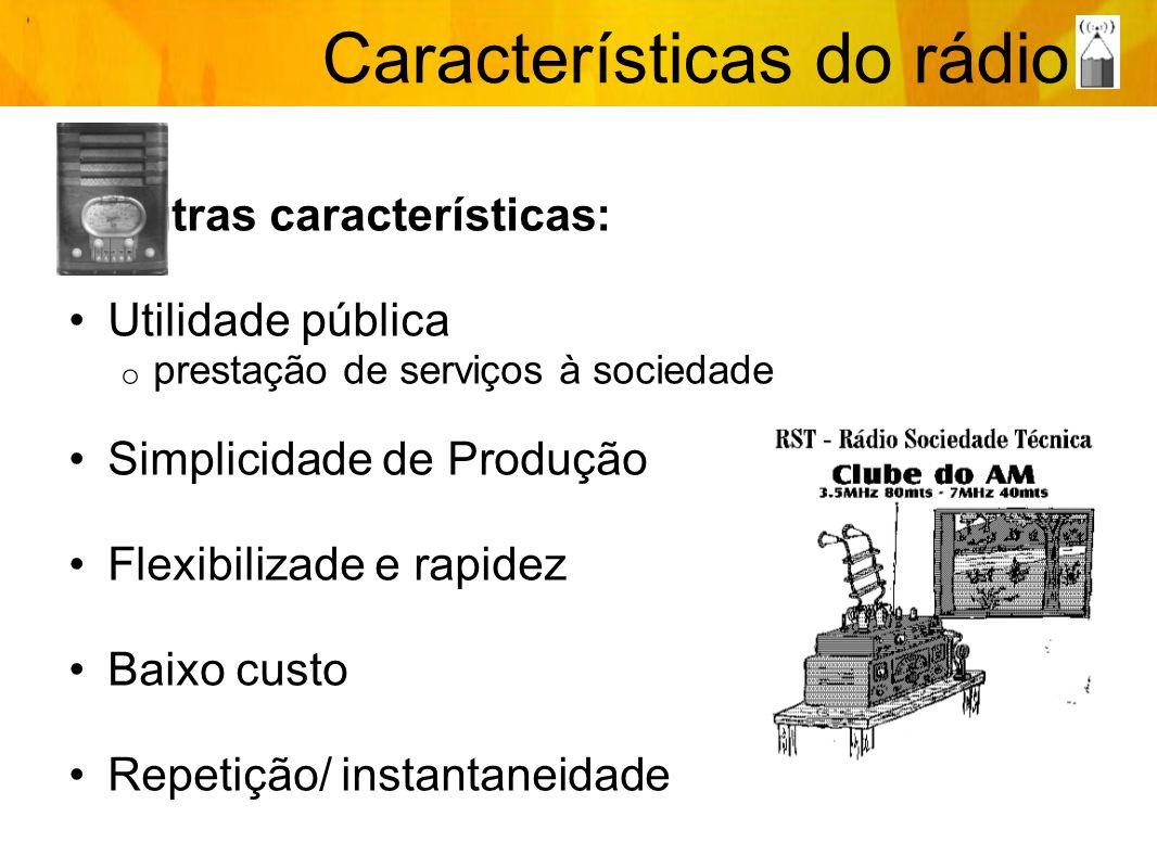 Características do rádio