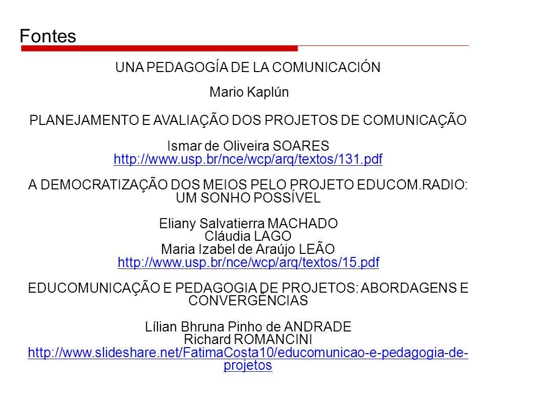 Fontes UNA PEDAGOGÍA DE LA COMUNICACIÓN Mario Kaplún