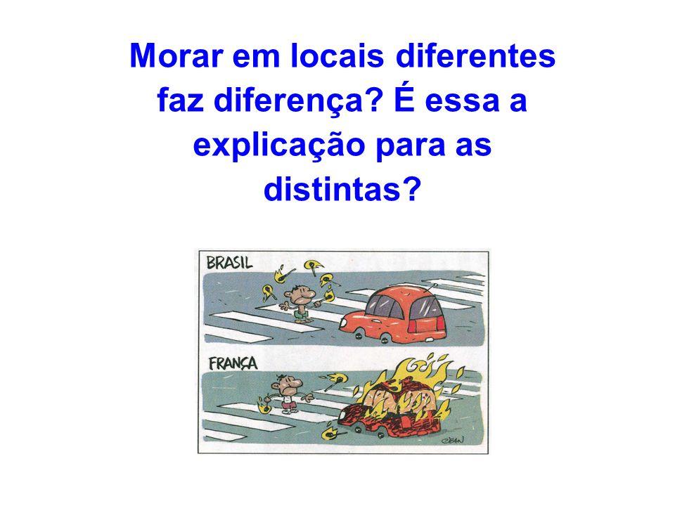 Morar em locais diferentes faz diferença