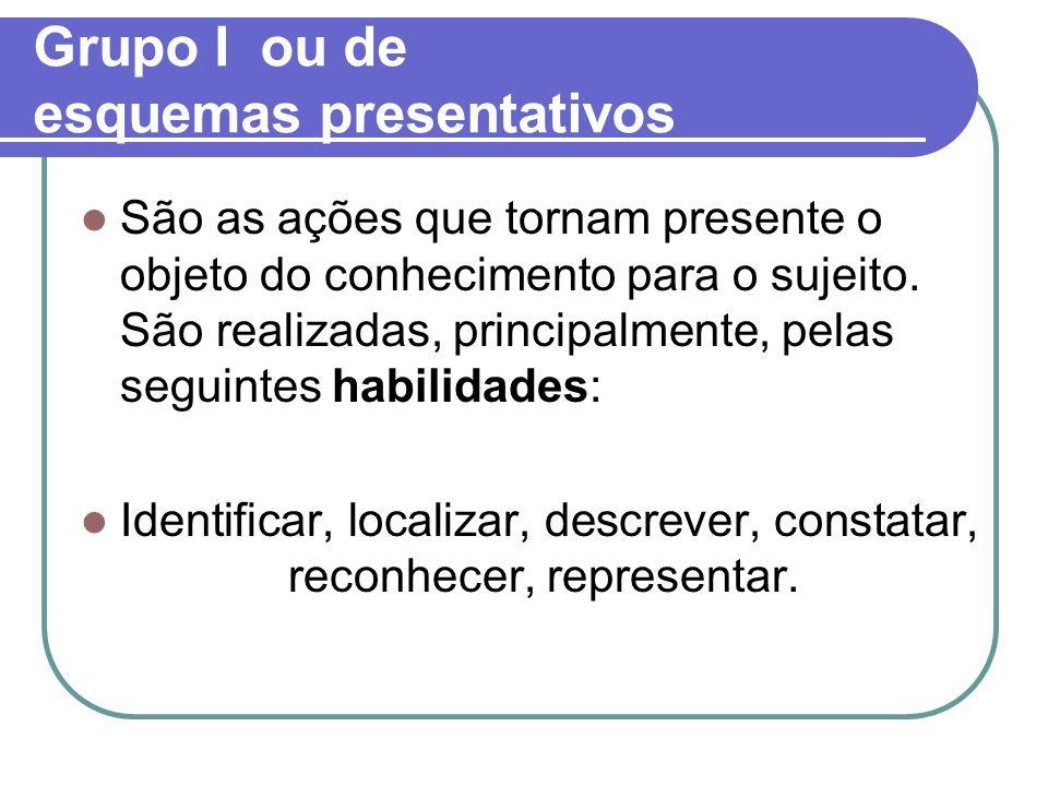 Grupo I ou de esquemas presentativos