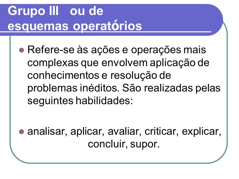 Grupo III ou de esquemas operatórios