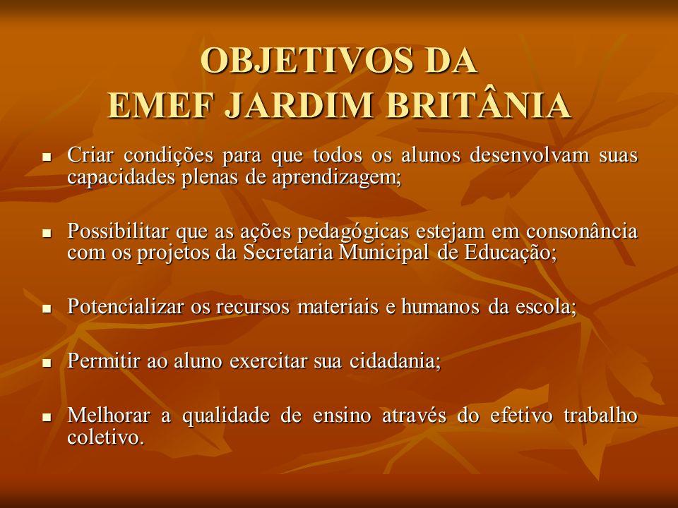 OBJETIVOS DA EMEF JARDIM BRITÂNIA