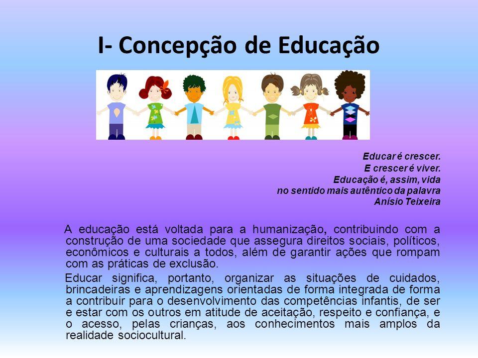 I- Concepção de Educação