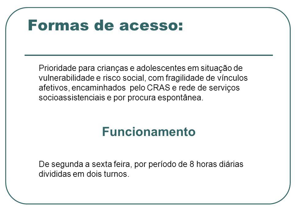 Formas de acesso: Funcionamento