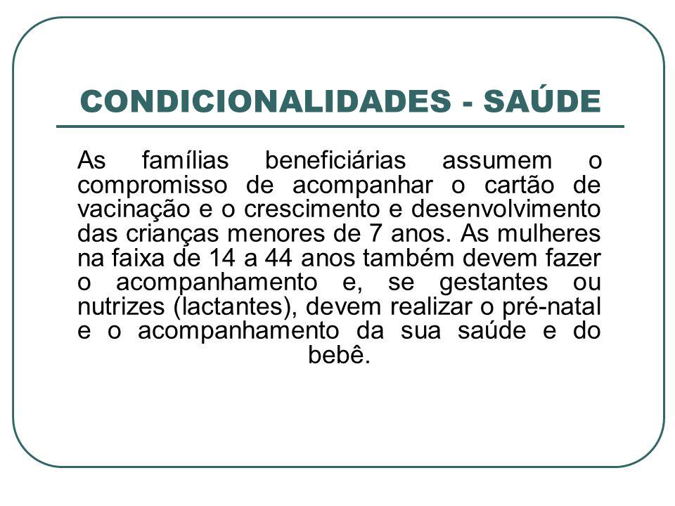 CONDICIONALIDADES - SAÚDE