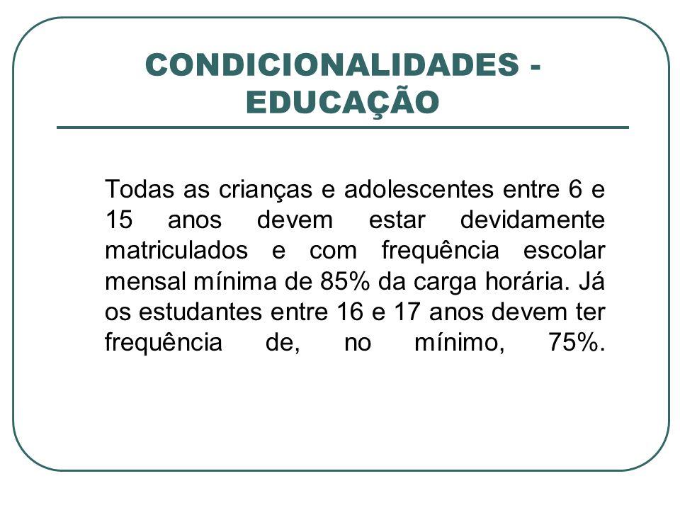CONDICIONALIDADES - EDUCAÇÃO