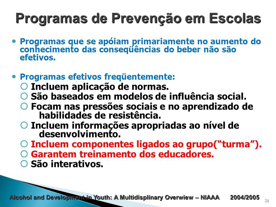 Programas de Prevenção em Escolas