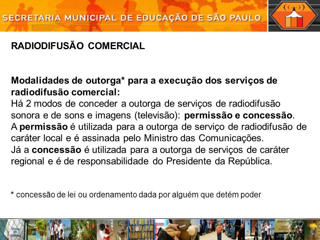 RADIODIFUSÃO COMERCIAL