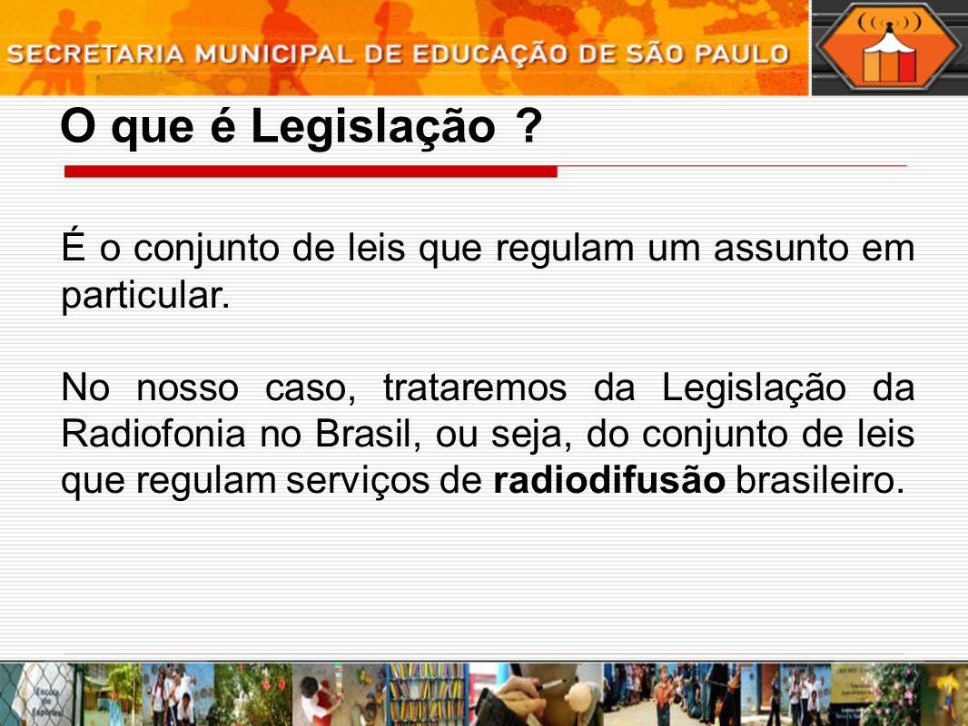 O que é Legislação É o conjunto de leis que regulam um assunto em particular.