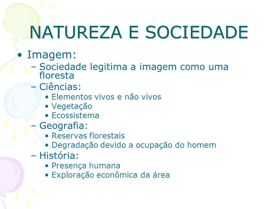 NATUREZA E SOCIEDADE Imagem: