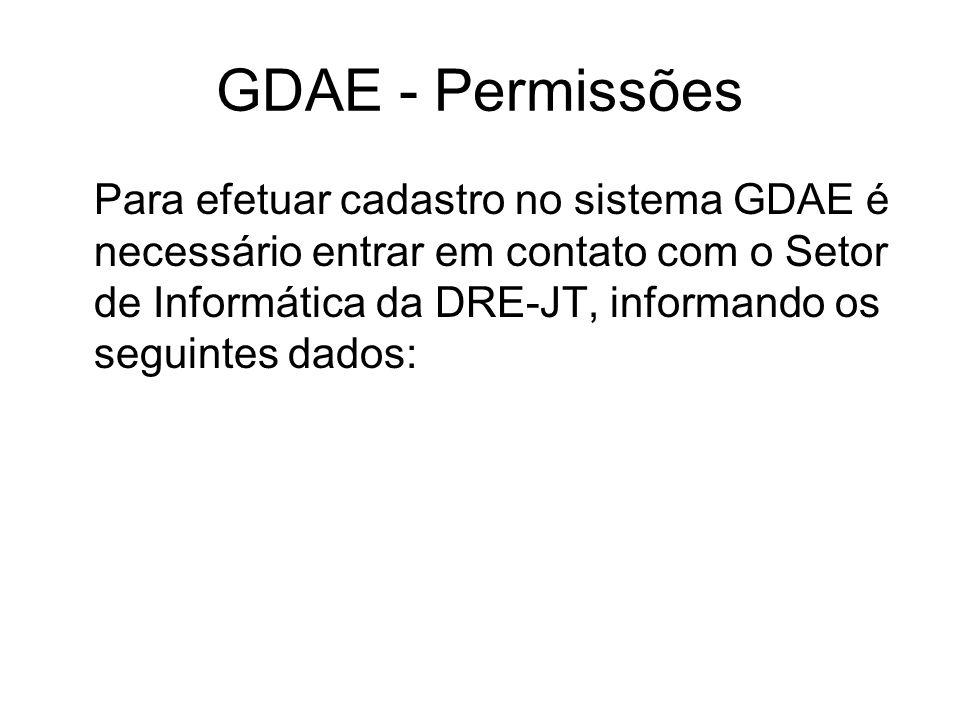 GDAE - Permissões