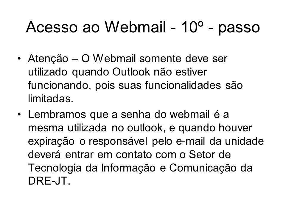 Acesso ao Webmail - 10º - passo