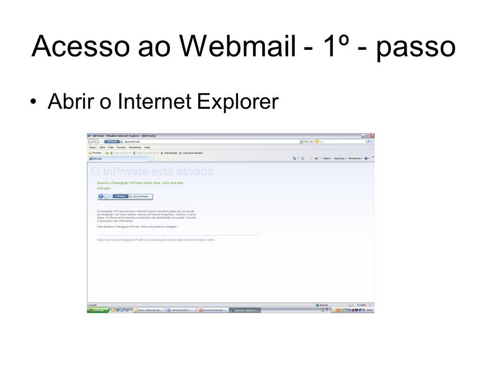 Acesso ao Webmail - 1º - passo