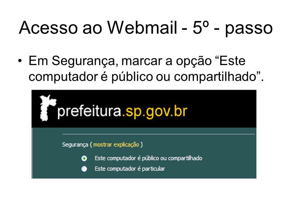 Acesso ao Webmail - 5º - passo