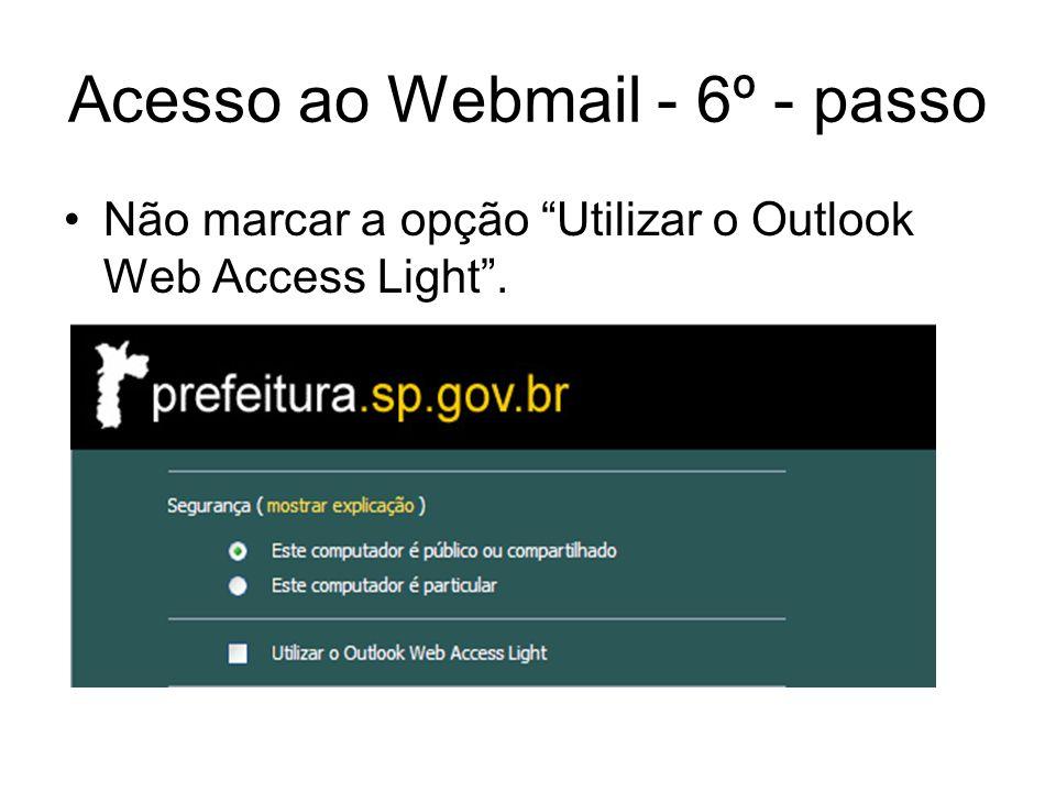 Acesso ao Webmail - 6º - passo