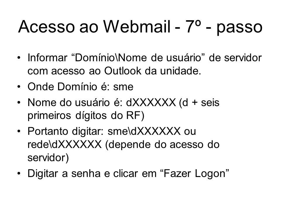Acesso ao Webmail - 7º - passo