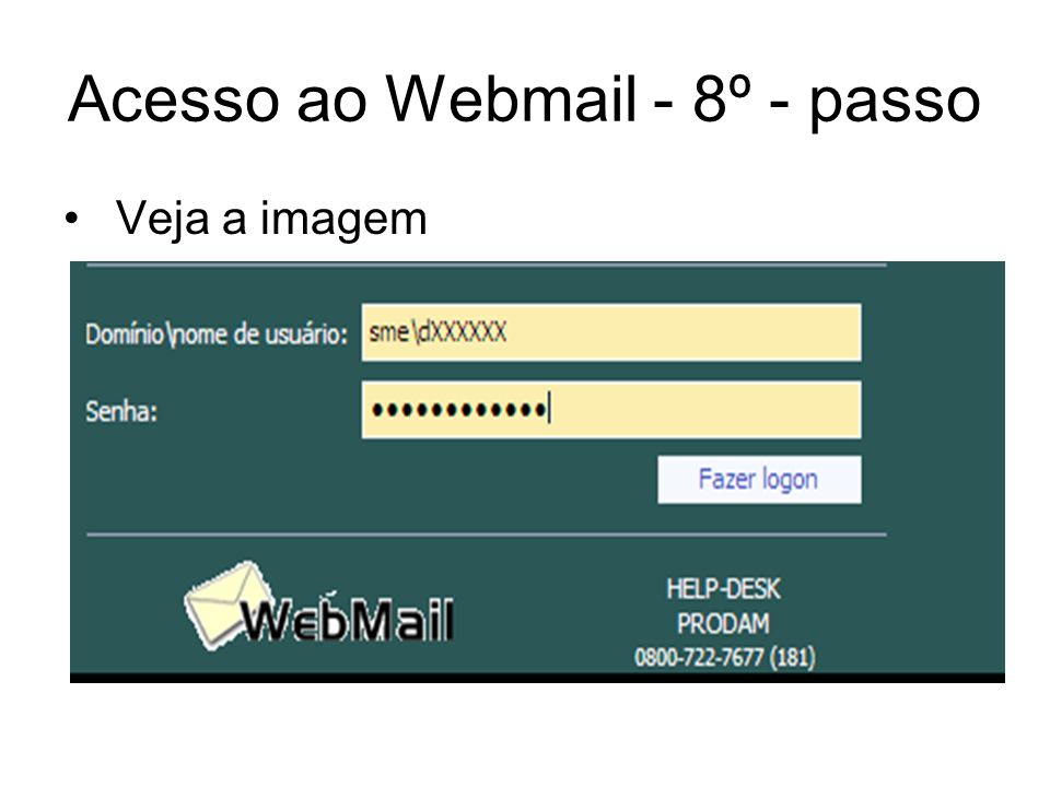 Acesso ao Webmail - 8º - passo