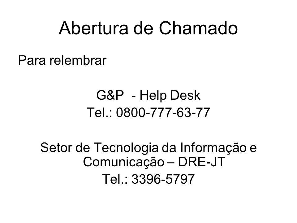 Setor de Tecnologia da Informação e Comunicação – DRE-JT