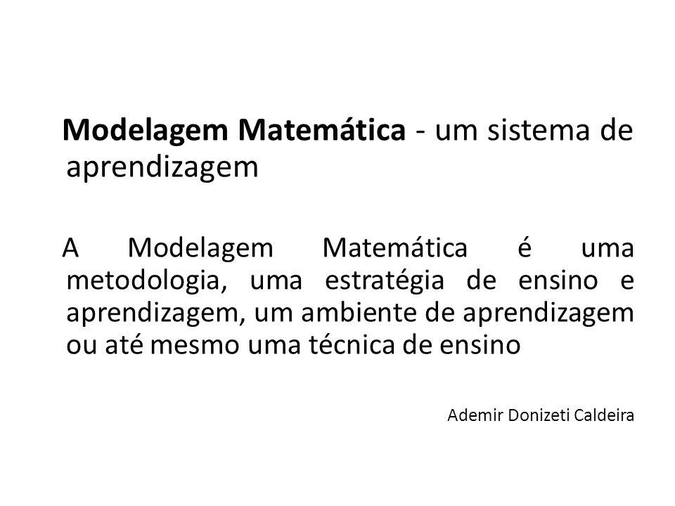Modelagem Matemática - um sistema de aprendizagem