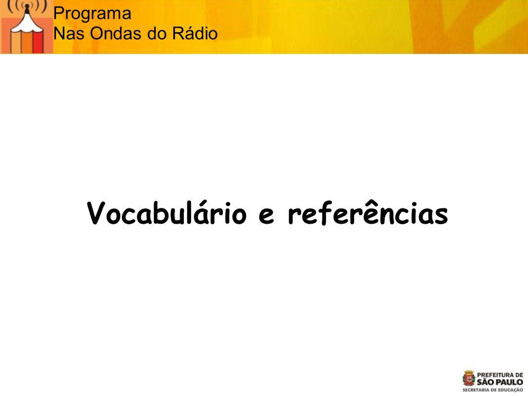Vocabulário e referências